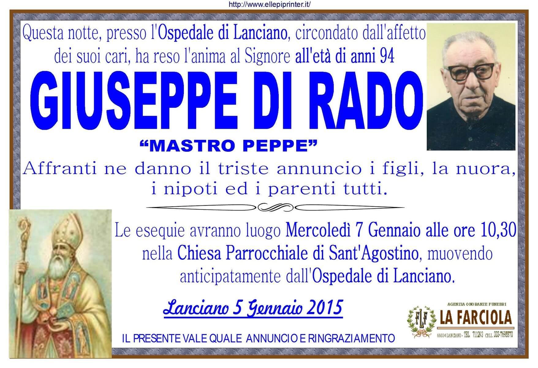 MANIFESTO GIUSEPPE DI RADO