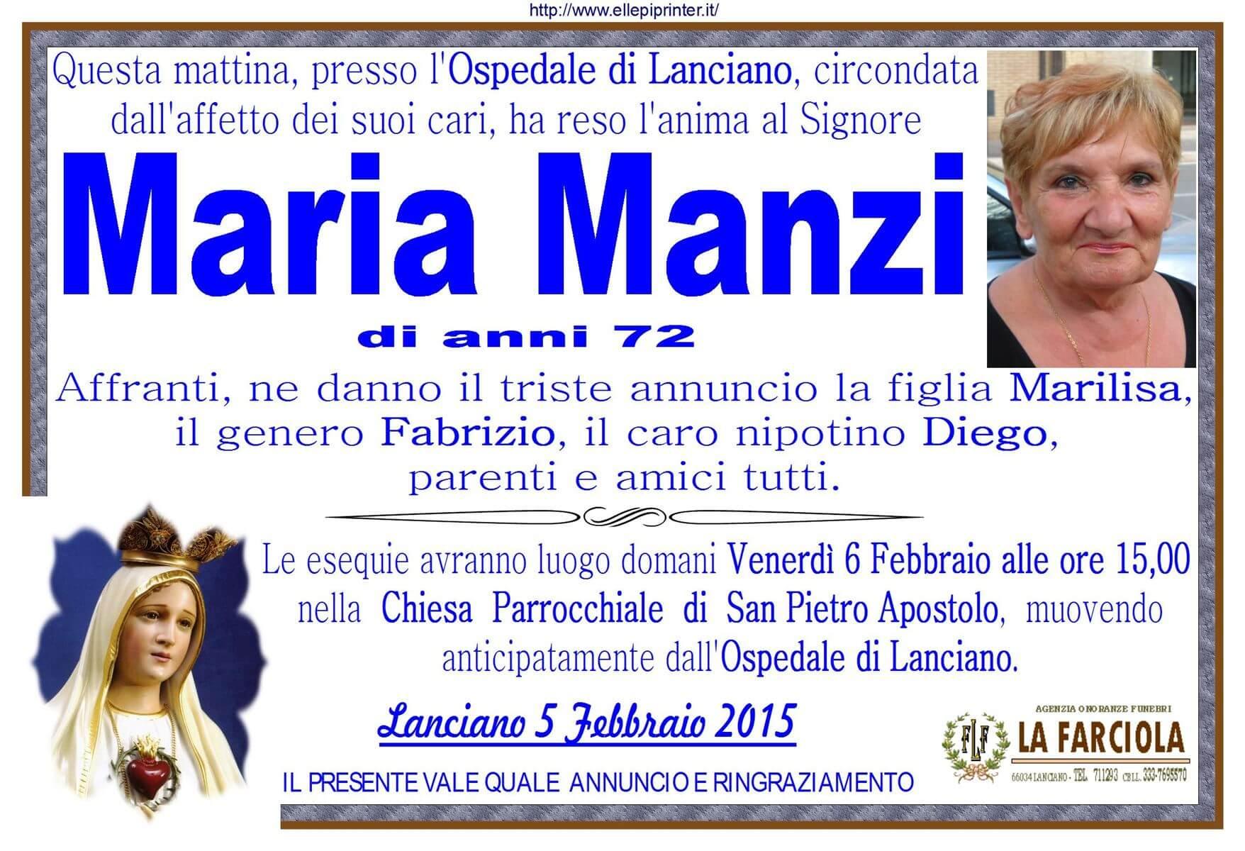 MANIFESTO MANZI MARIA