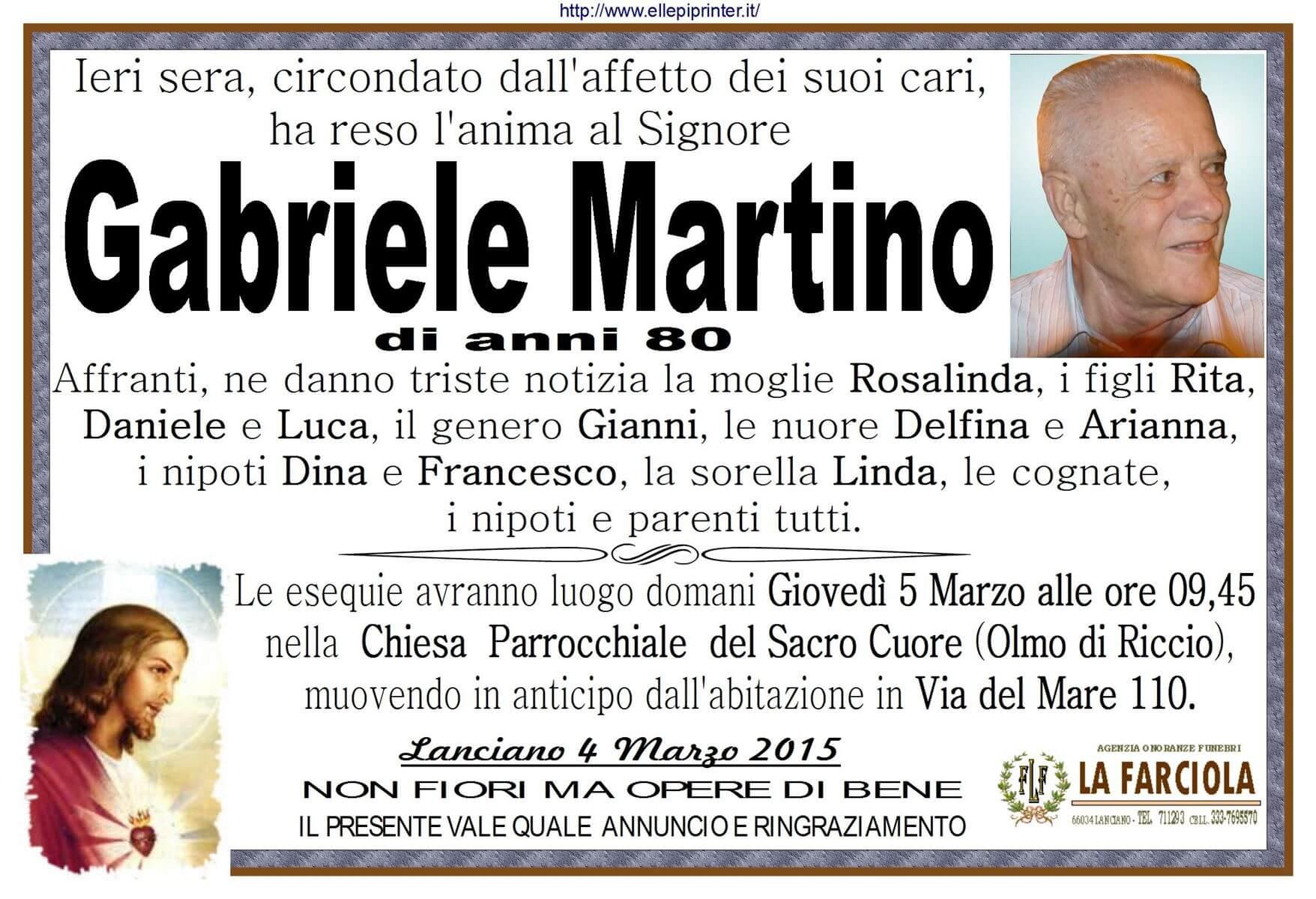 MANIFESTO MARTINO GABRIELE