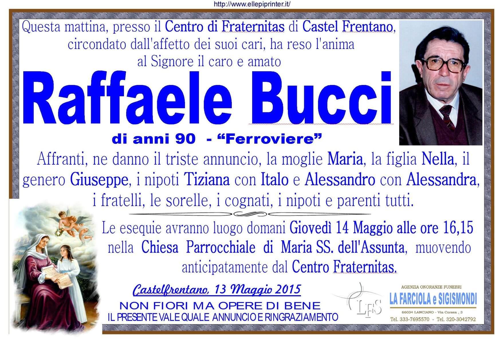 MANIFESTO BUCCI RAFFAELE