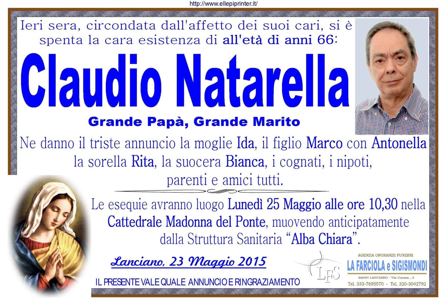 MANIFESTO NATARELLA CLAUDIO