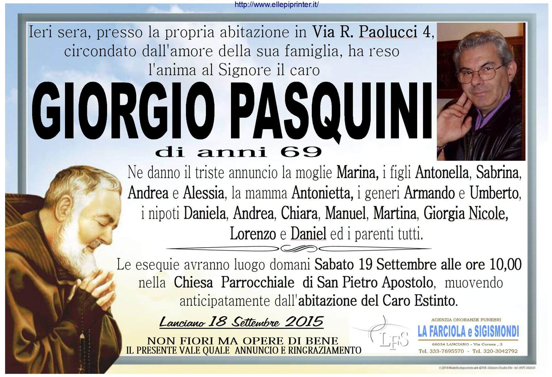 MANIFESTO PASQUINI GIORGIO