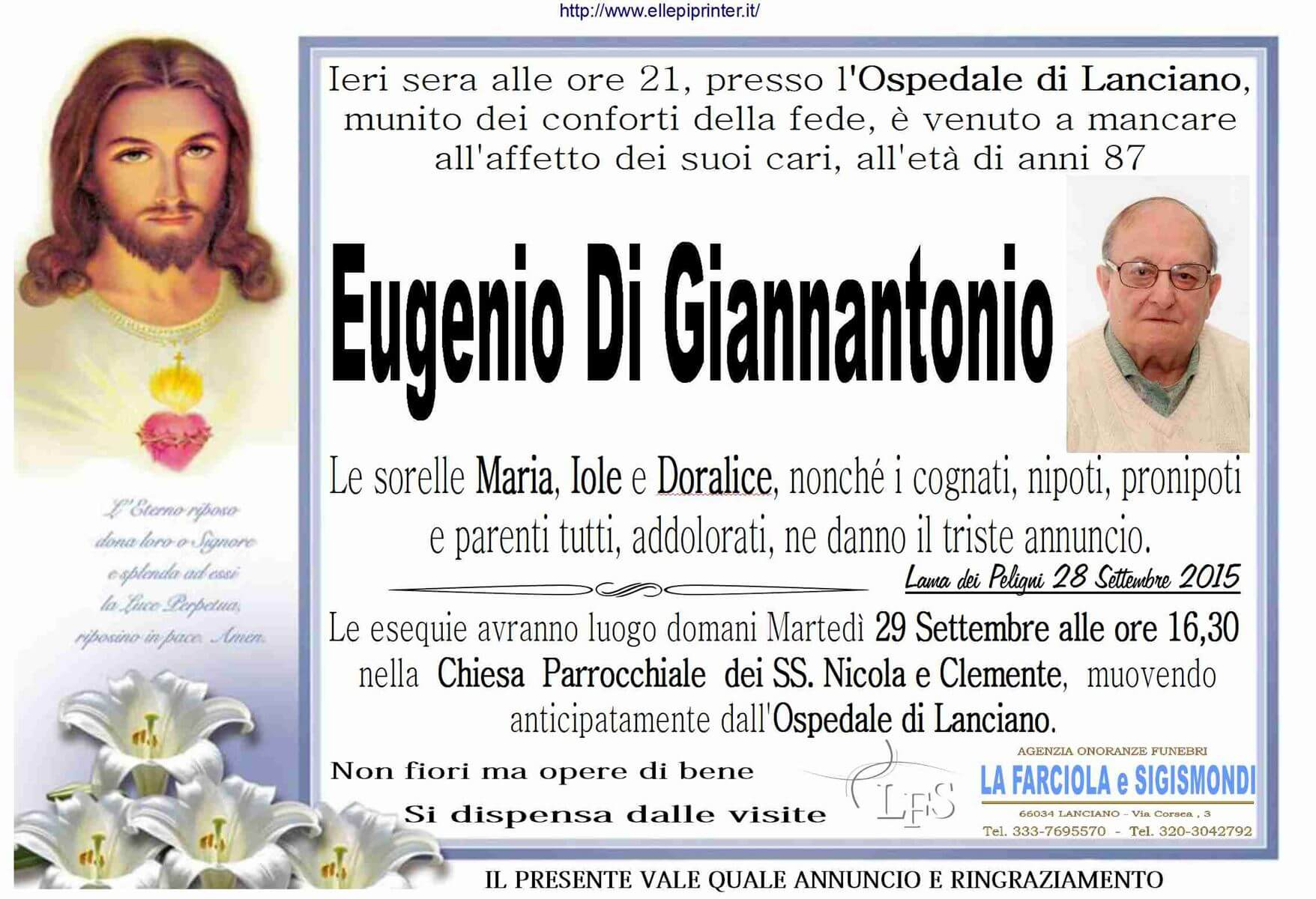 MANIFESTO DI GIANNANTONIO