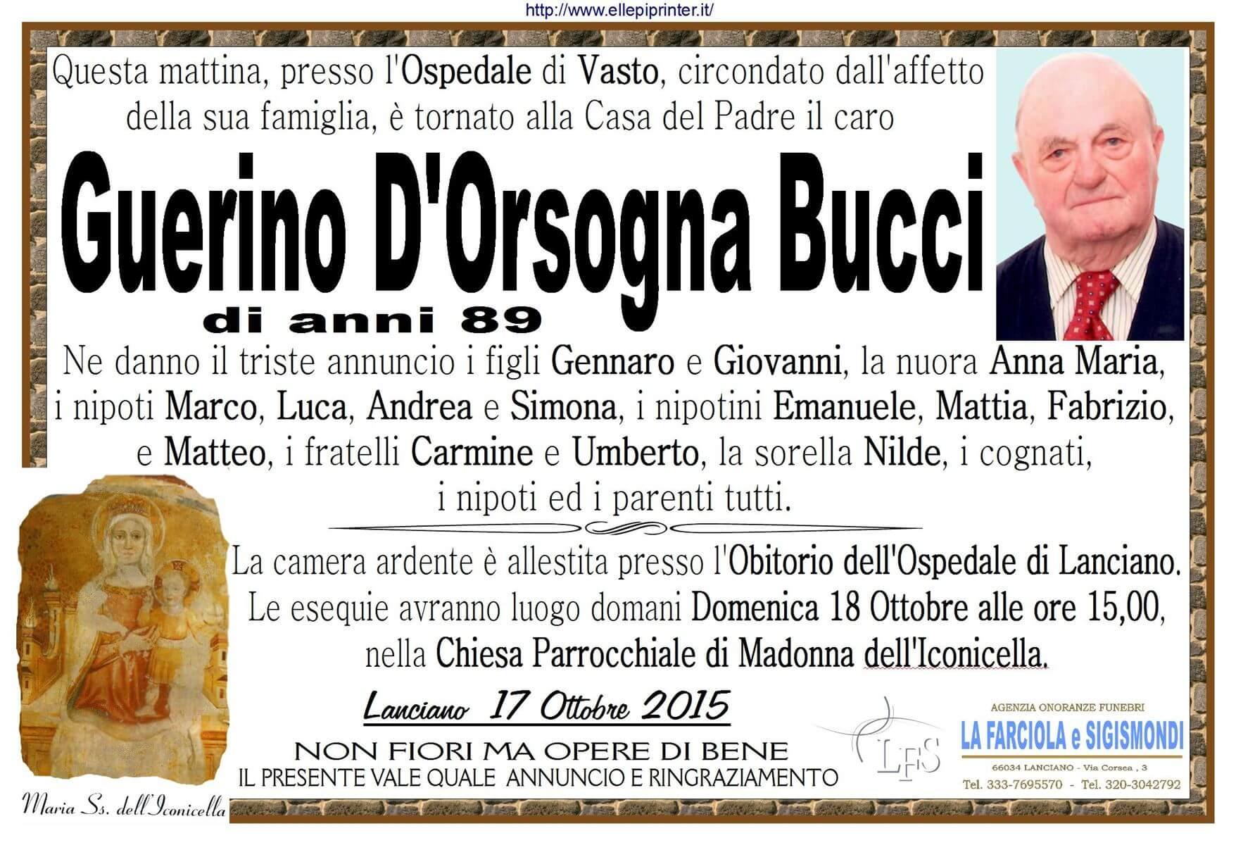 MANIFESTO GUERINO BUCCI D'ORSOGNA