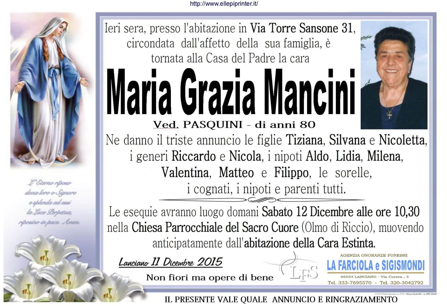 MANIFESTO MANCINI