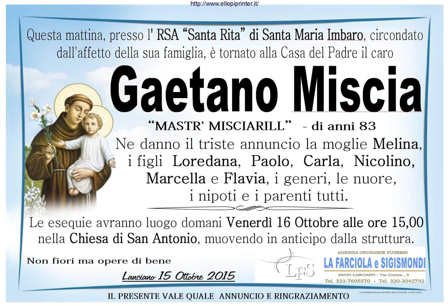 MANIFESTO MISCIA GAETANO
