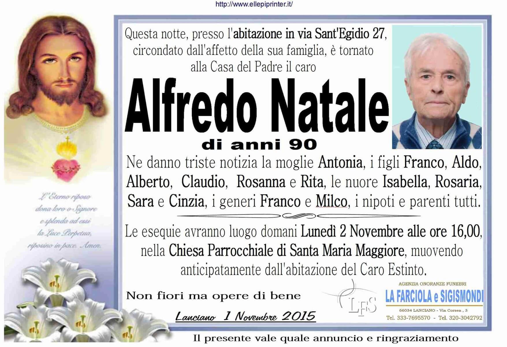 MANIFESTO NATALE ALFREDO