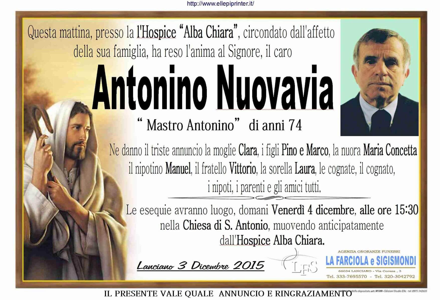 MANIFESTO NUOVAVIA ANTONINO