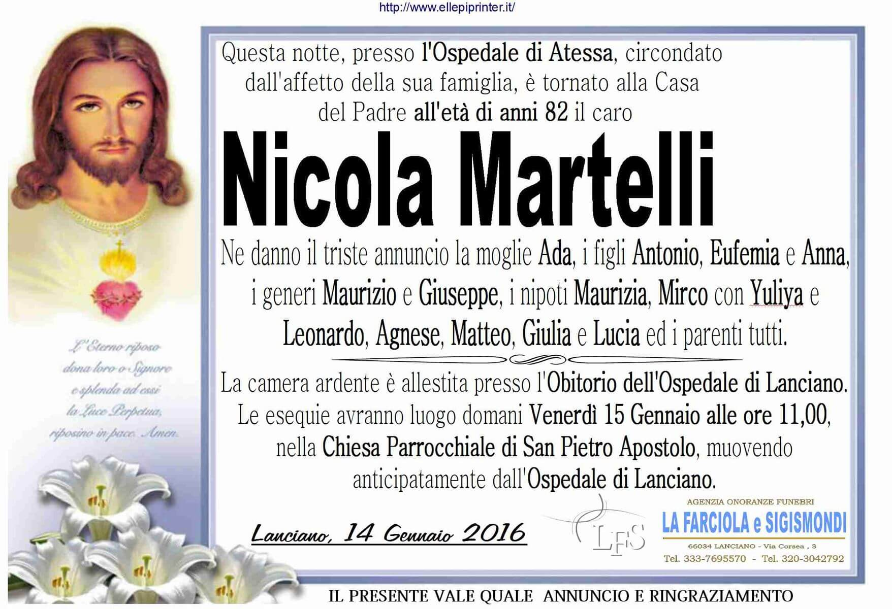 MANIFESTO MARTELLI NICOLA