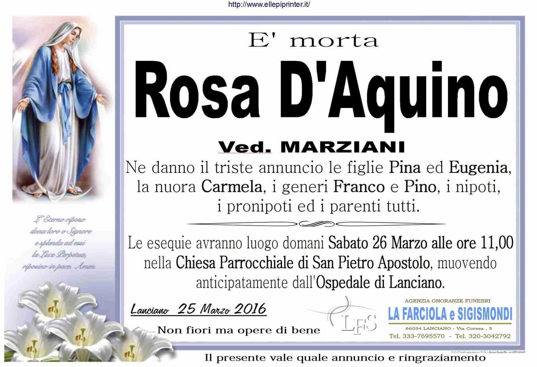 MANIFESTO D'AQUINO ROSA
