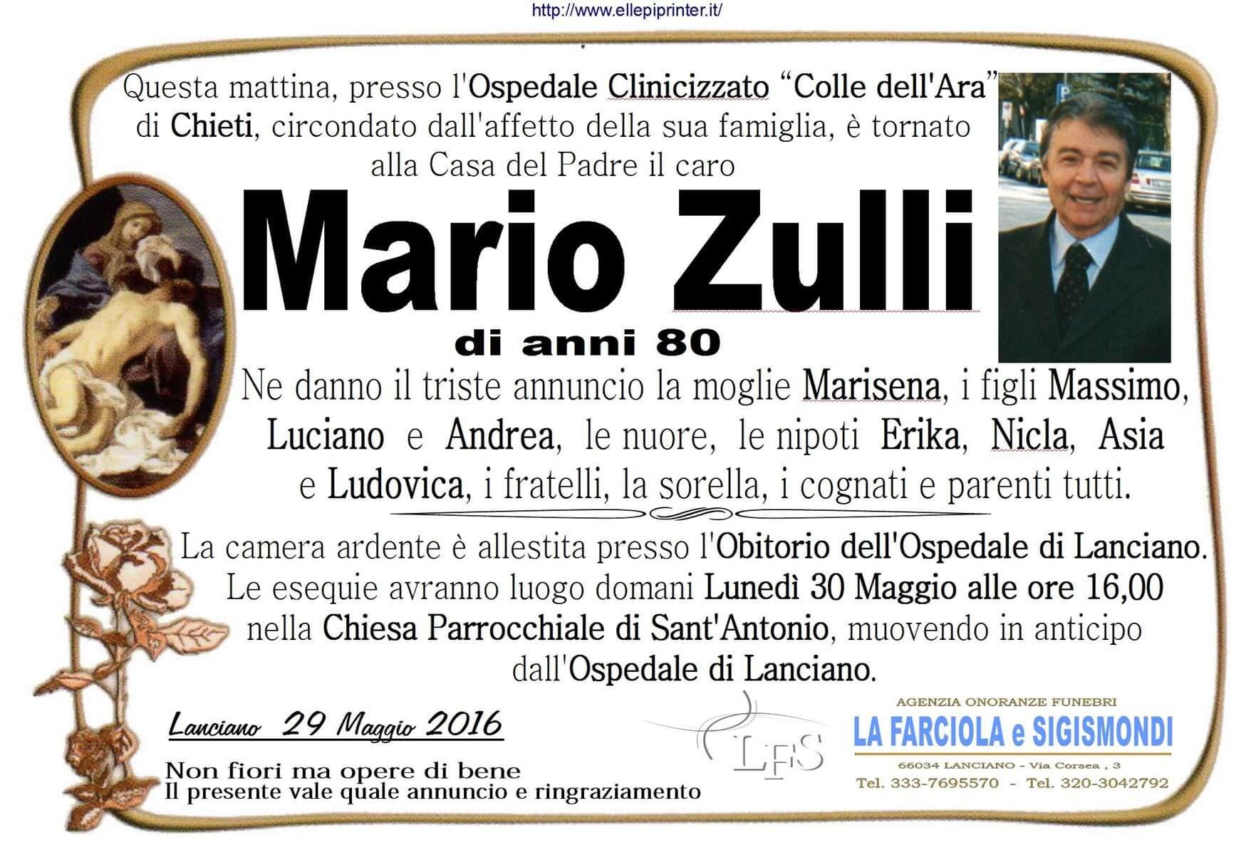 MANIFESTO ZULLI MARIO