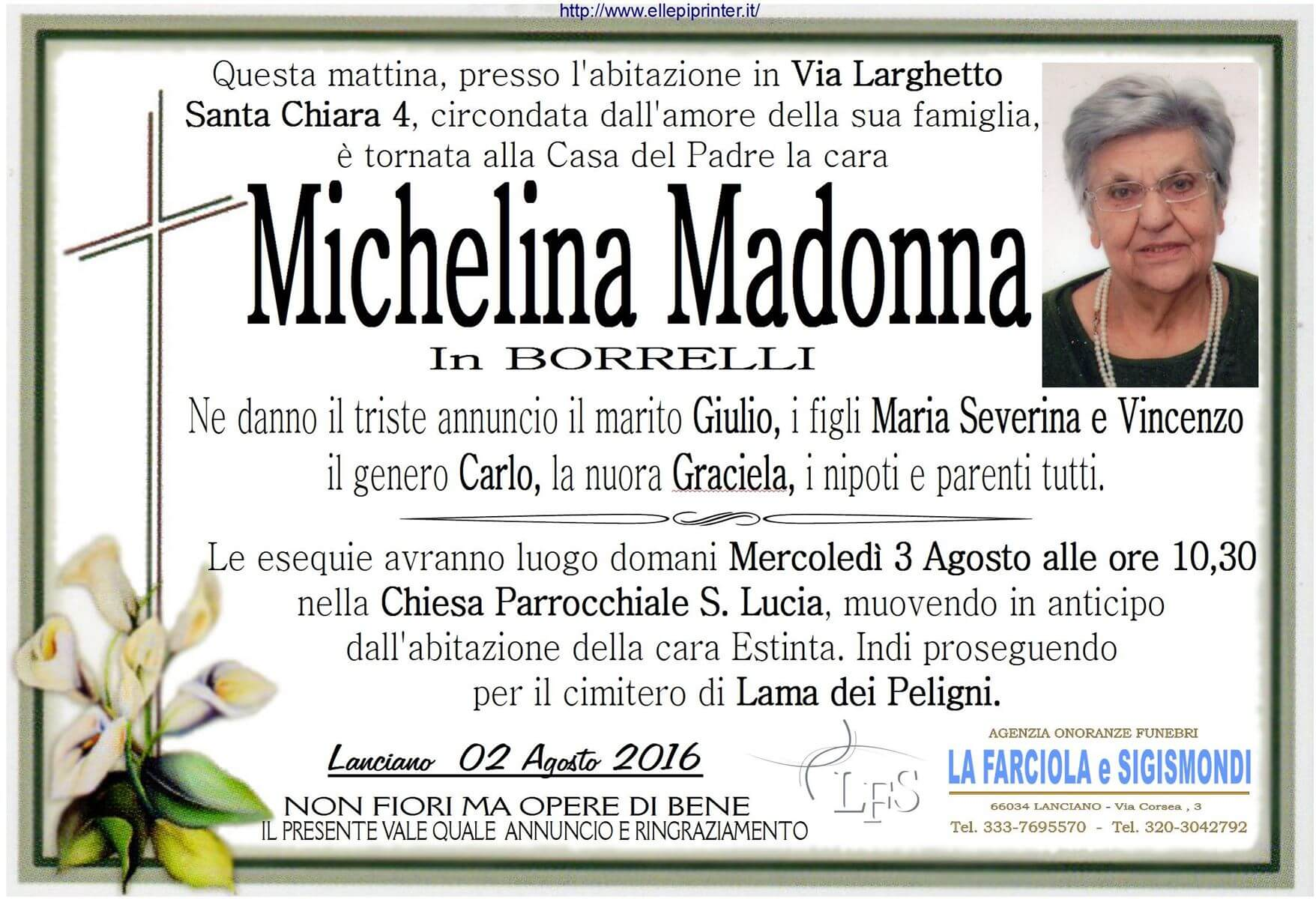 MANIFESTO MADONNA MICHELINA