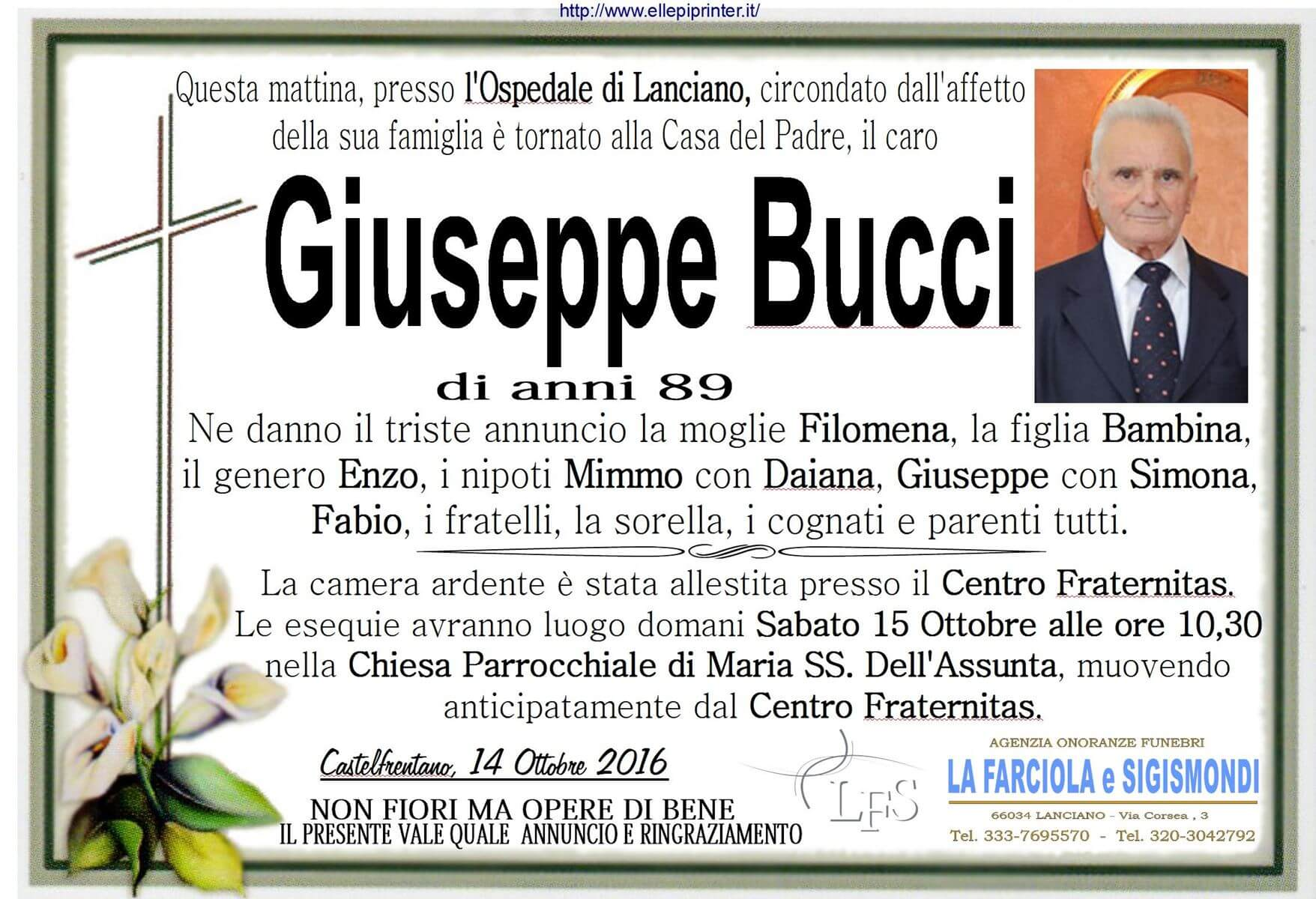 MANIFESTO BUCCI GIUSEPPE