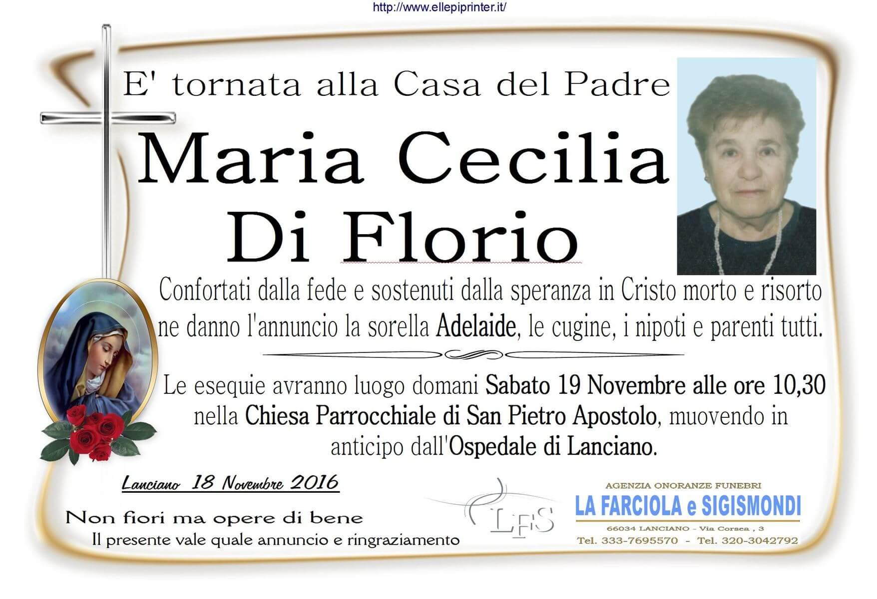 MANIFESTO DI FLORIO MARIA CECILIA