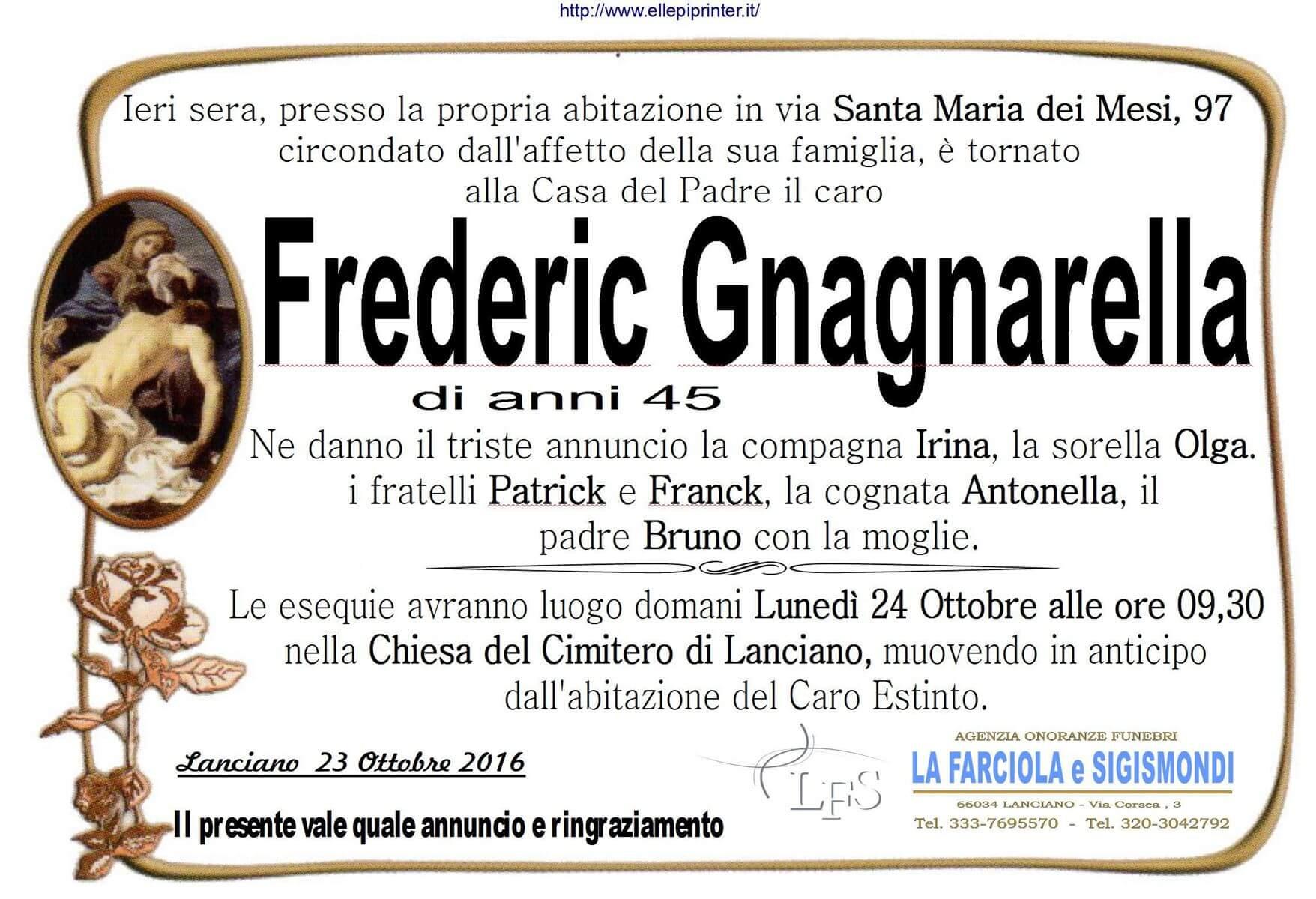 MANIFESTO GNAGNARELLA FREDERICK