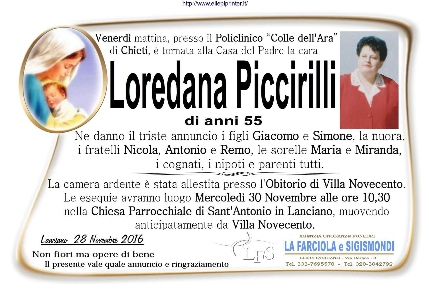 MANIFESTO PICCIRILLI
