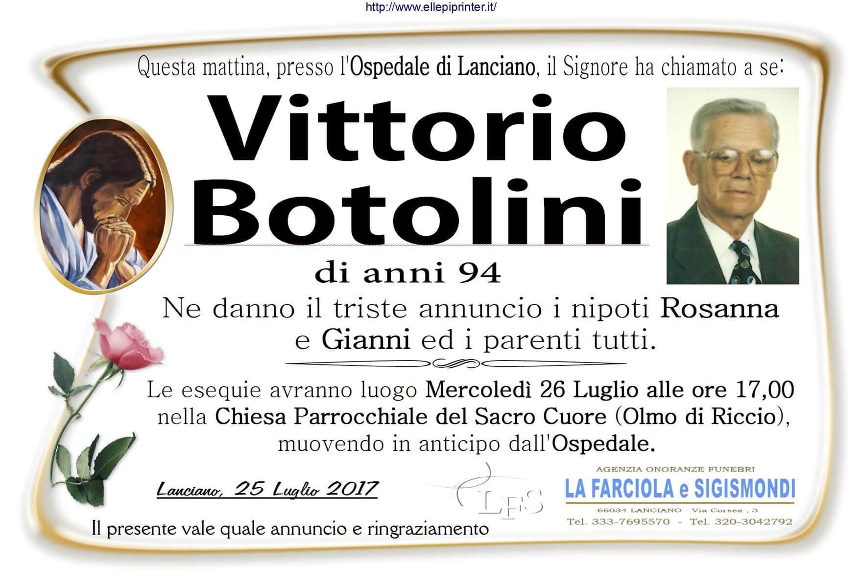 Necrologio Lanciano - Vittorio Botolini